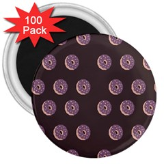 Donuts 3  Magnets (100 Pack) by Mariart