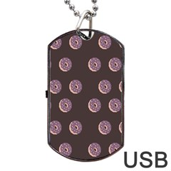 Donuts Dog Tag Usb Flash (one Side) by Mariart