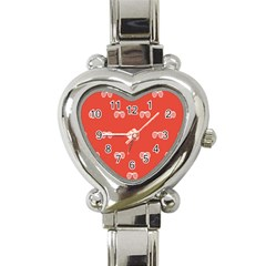 Glasses Disco Retina Red White Line Heart Italian Charm Watch by Mariart