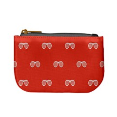 Glasses Disco Retina Red White Line Mini Coin Purses by Mariart