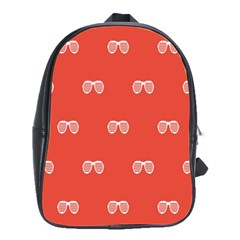Glasses Disco Retina Red White Line School Bags(large)  by Mariart