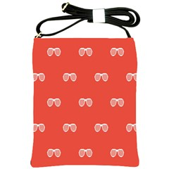 Glasses Disco Retina Red White Line Shoulder Sling Bags by Mariart