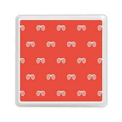 Glasses Disco Retina Red White Line Memory Card Reader (square)  by Mariart