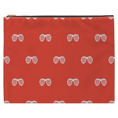 Glasses Disco Retina Red White Line Cosmetic Bag (xxxl)  by Mariart