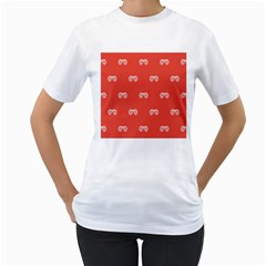 Glasses Disco Retina Red White Line Women s T Shirt (white)  by Mariart
