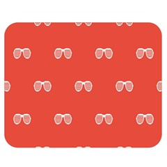 Glasses Disco Retina Red White Line Double Sided Flano Blanket (medium)  by Mariart