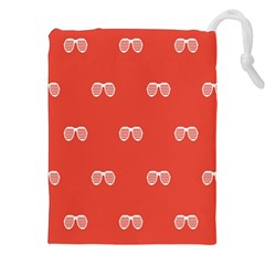 Glasses Disco Retina Red White Line Drawstring Pouches (xxl) by Mariart