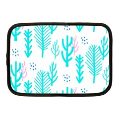 Forest Drop Blue Pink Polka Circle Netbook Case (medium)  by Mariart