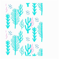 Forest Drop Blue Pink Polka Circle Small Garden Flag (two Sides) by Mariart