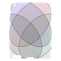 Four Way Venn Diagram Circle Apple Ipad 3/4 Hardshell Case by Mariart
