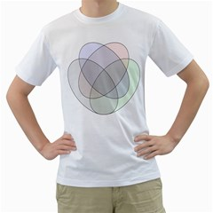 Four Way Venn Diagram Circle Men s T Shirt (white)  by Mariart
