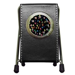 Hand And Footprints Pen Holder Desk Clocks by Mariart