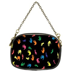 Hand And Footprints Chain Purses (two Sides)  by Mariart
