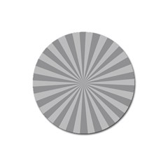 Grey Starburst Line Light Magnet 3  (round) by Mariart