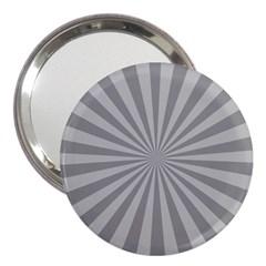 Grey Starburst Line Light 3  Handbag Mirrors by Mariart