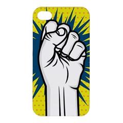 Hand Polka Dot Yellow Blue White Orange Sign Apple Iphone 4/4s Hardshell Case by Mariart