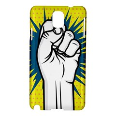 Hand Polka Dot Yellow Blue White Orange Sign Samsung Galaxy Note 3 N9005 Hardshell Case by Mariart