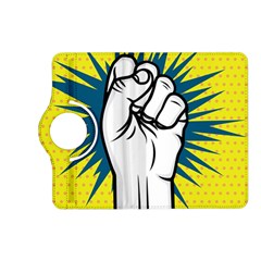 Hand Polka Dot Yellow Blue White Orange Sign Kindle Fire Hd (2013) Flip 360 Case by Mariart