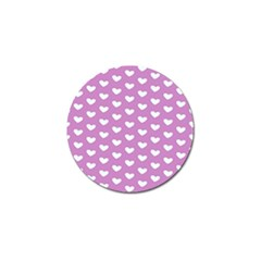 Heart Love Valentine White Purple Card Golf Ball Marker (10 Pack) by Mariart