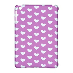 Heart Love Valentine White Purple Card Apple Ipad Mini Hardshell Case (compatible With Smart Cover) by Mariart