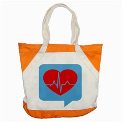 Heartbeat Health Heart Sign Red Blue Accent Tote Bag by Mariart