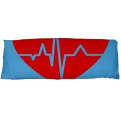 Heartbeat Health Heart Sign Red Blue Body Pillow Case (dakimakura) by Mariart