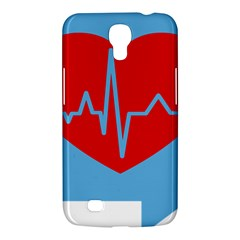 Heartbeat Health Heart Sign Red Blue Samsung Galaxy Mega 6 3  I9200 Hardshell Case by Mariart