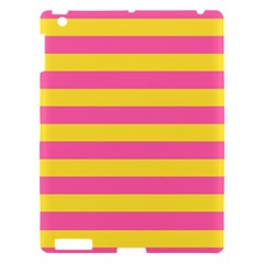 Horizontal Pink Yellow Line Apple Ipad 3/4 Hardshell Case by Mariart