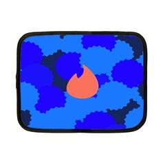 Image Orange Blue Sign Black Spot Polka Netbook Case (small)  by Mariart