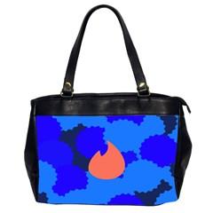 Image Orange Blue Sign Black Spot Polka Office Handbags (2 Sides)  by Mariart