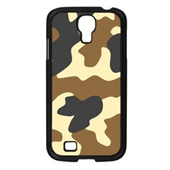 Initial Camouflage Camo Netting Brown Black Samsung Galaxy S4 I9500/ I9505 Case (black) by Mariart
