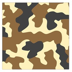 Initial Camouflage Camo Netting Brown Black Large Satin Scarf (square) by Mariart