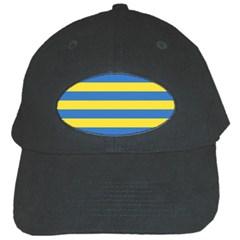 Horizontal Blue Yellow Line Black Cap by Mariart