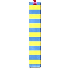 Horizontal Blue Yellow Line Large Book Marks by Mariart