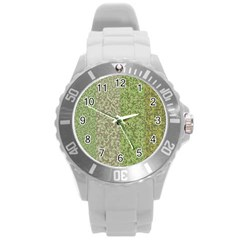 Camo Pack Initial Camouflage Round Plastic Sport Watch (l) by Mariart