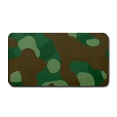 Initial Camouflage Como Green Brown Medium Bar Mats by Mariart