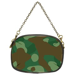 Initial Camouflage Como Green Brown Chain Purses (two Sides)  by Mariart