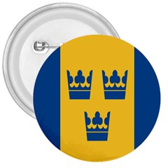 King Queen Crown Blue Yellow 3  Buttons by Mariart