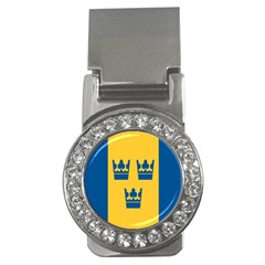 King Queen Crown Blue Yellow Money Clips (cz)  by Mariart