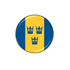 King Queen Crown Blue Yellow Hat Clip Ball Marker (4 Pack) by Mariart