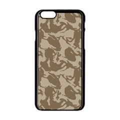 Initial Camouflage Brown Apple Iphone 6/6s Black Enamel Case by Mariart