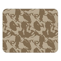 Initial Camouflage Brown Double Sided Flano Blanket (large)  by Mariart