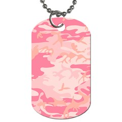 Initial Camouflage Camo Pink Dog Tag (two Sides) by Mariart