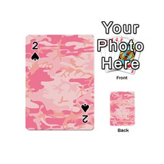 Initial Camouflage Camo Pink Playing Cards 54 (mini)  by Mariart