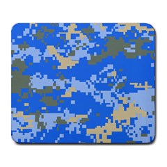 Oceanic Camouflage Blue Grey Map Large Mousepads by Mariart