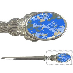 Oceanic Camouflage Blue Grey Map Letter Openers by Mariart