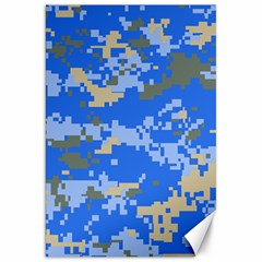 Oceanic Camouflage Blue Grey Map Canvas 20  X 30   by Mariart