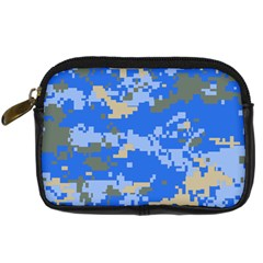 Oceanic Camouflage Blue Grey Map Digital Camera Cases by Mariart