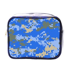 Oceanic Camouflage Blue Grey Map Mini Toiletries Bags by Mariart