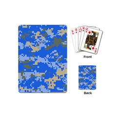 Oceanic Camouflage Blue Grey Map Playing Cards (mini)  by Mariart